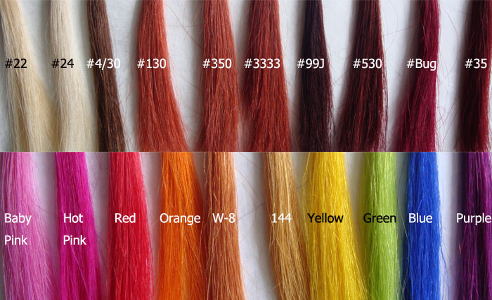 Hair Color Extending : In stock human hair extensions color